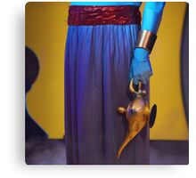 Genie and the lamp II Canvas Print