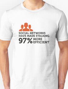 Social Networks make stalking easier! T-Shirt
