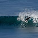 surfing at bells beach by ketut suwitra