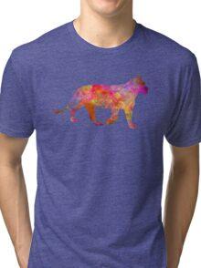Female Lion 01 in watercolor Tri-blend T-Shirt