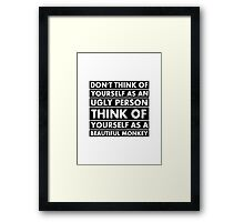 Beautiful monkey Framed Print