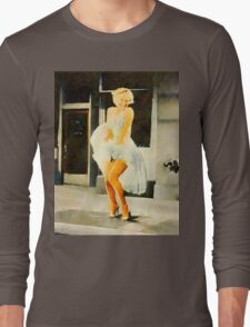 Marilyn Monroe by Frank Falcon Long Sleeve T-Shirt