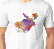 Moose 04 in watercolor Unisex T-Shirt