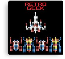 Retro Geek - Galaga Canvas Print