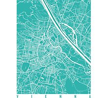 Vienna map turquoise Photographic Print
