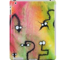 the creatures from the drain painting 8 b iPad Case/Skin