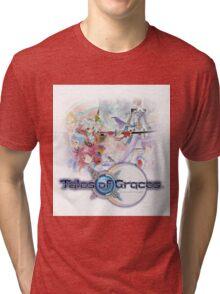 TALES OF GRACES TSHIRT coverart + logo Tri-blend T-Shirt