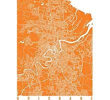 Brisbane map orange Photographic Print