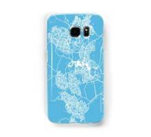Canberra map blue australia Samsung Galaxy Case/Skin