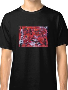 Red on Black - Big Original Wall Modern Abstract Art Painting Classic T-Shirt