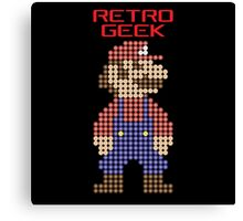 Retro Geek - Mario Canvas Print