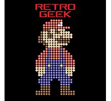 Retro Geek - Mario Photographic Print