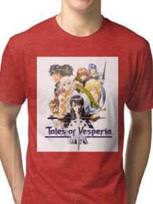 TALES OF VESPERIA TSHIRT coverart + logo Tri-blend T-Shirt