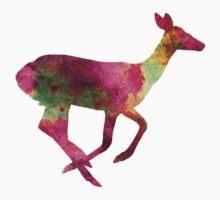 Female Deer 01 in watercolor One Piece - Long Sleeve