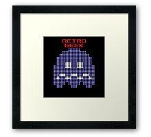 Retro Geek - Pacman Ghost Framed Print