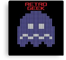 Retro Geek - Pacman Ghost Canvas Print