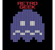 Retro Geek - Pacman Ghost Photographic Print