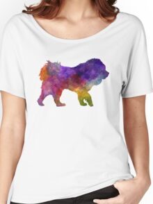 Tibetan Mastiff in watercolor Women's Relaxed Fit T-Shirt