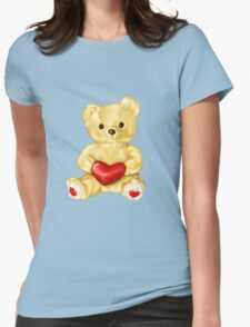 Cute Teddy Bear Blue Pattern T-Shirt