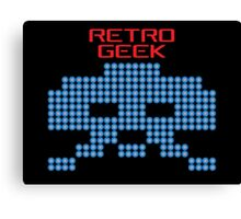 Retro Geek - Space Invaders Canvas Print