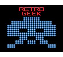 Retro Geek - Space Invaders Photographic Print