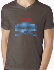 Retro Geek - Space Invaders Mens V-Neck T-Shirt