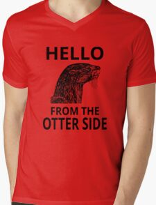 Hello From The Otter Side Mens V-Neck T-Shirt