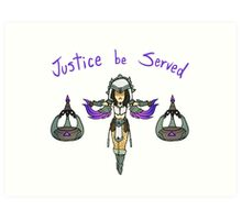 Smite - Justice be served! (Chibi) Art Print