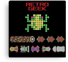 Retro Geek - Frogger Canvas Print