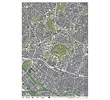 Tokyo map engraving Photographic Print
