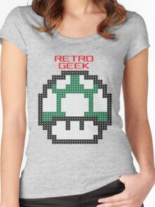 Retro Geek - One Up Women's Fitted Scoop T-Shirt