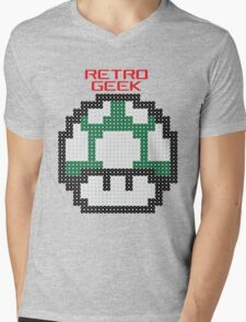 Retro Geek - One Up Mens V-Neck T-Shirt