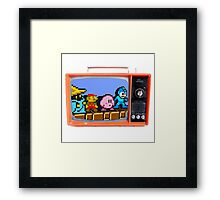 TV RETRO Framed Print