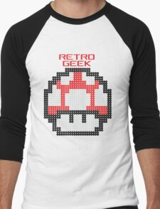 Retro Geek - Get Big Men's Baseball ¾ T-Shirt