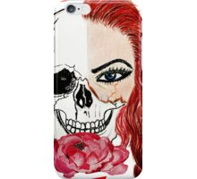 Abstract half skull half face iPhone Case/Skin