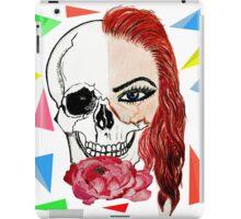 Abstract half skull half face iPad Case/Skin