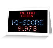 Retro Geek - Hi-Score Greeting Card