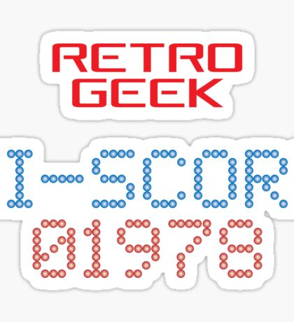 Retro Geek - Hi-Score Sticker