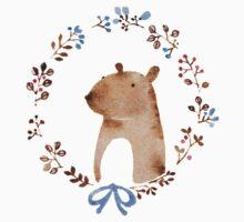 Small ear bear in a wreath Kids Tee