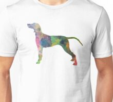 Weimaraner in watercolor Unisex T-Shirt