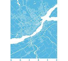 Quebec map blue Photographic Print