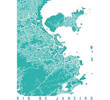 Rio map turquoise Photographic Print