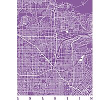 Anaheim map California lilac Photographic Print