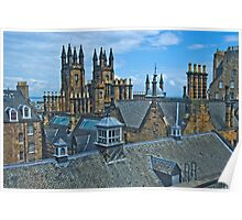 Roofs of Old town Edinburgh Poster