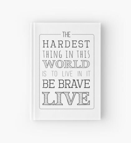 Buffy Typography Hardcover Journal