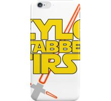 Kylo Stabbed First (Star Wars episode VII) iPhone Case/Skin