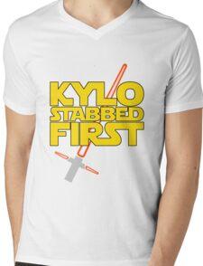 Kylo Stabbed First (Star Wars episode VII) Mens V-Neck T-Shirt