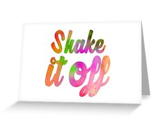 Shake it Off (colour) Greeting Card