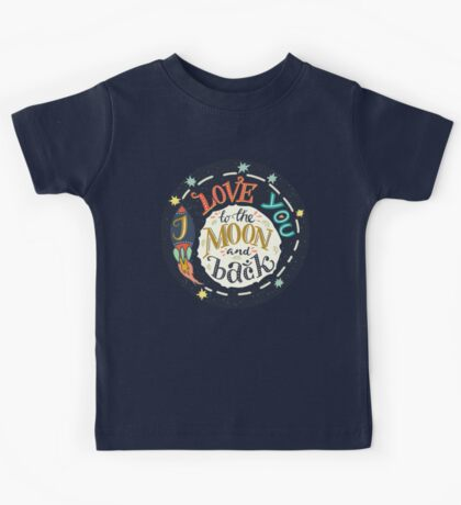 I love you to the moon and back Kids Tee