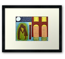THE GOODNIGHT KISS Framed Print